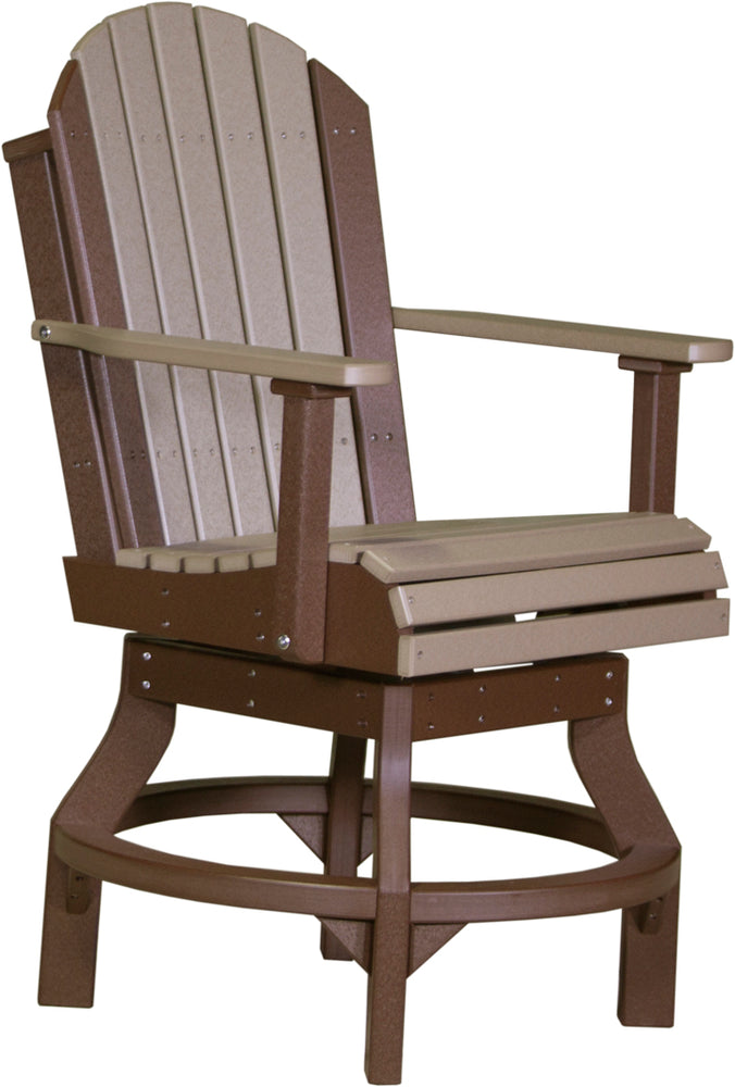 LuxCraft Adirondack Swivel Chair - Counter Height