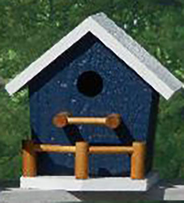 Twin Oaks Birdhouse with Porch