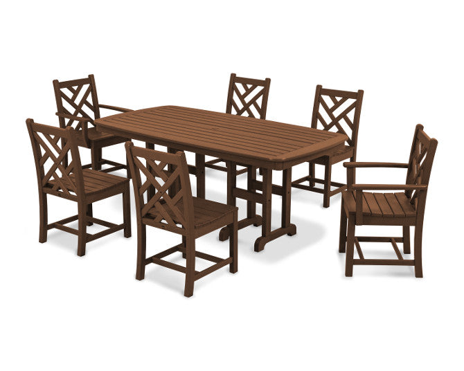Polywood Chippendale 7-Piece Dining Set