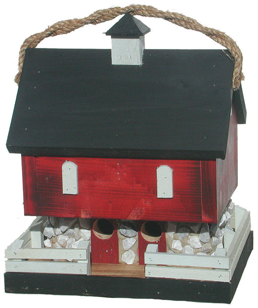 Twin Oaks Red Barn Birdhouse