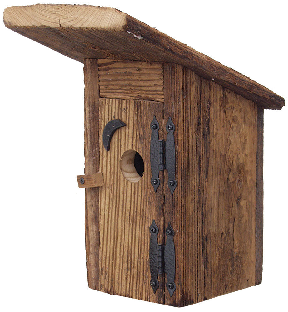 Twin Oaks Rustic Outhouse Birdhouse