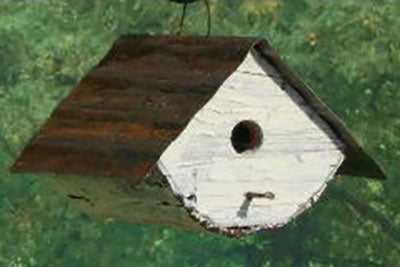 Twin Oaks Rounded Tin Roof Birdhouse