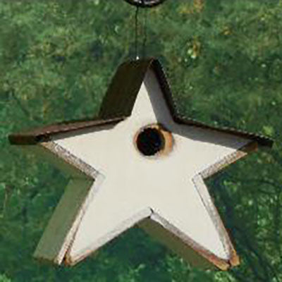 Twin Oaks Star Tin Roof Birdhouse