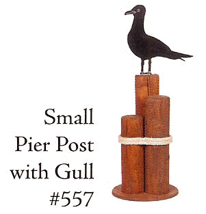 Small Pier Post - Seagull