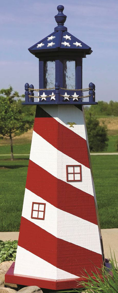Twin Oaks 8' Lighthouse - Stars & Stripes