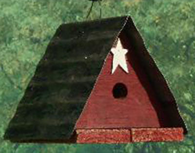 Twin Oaks Triangle Tin Roof Birdhouse