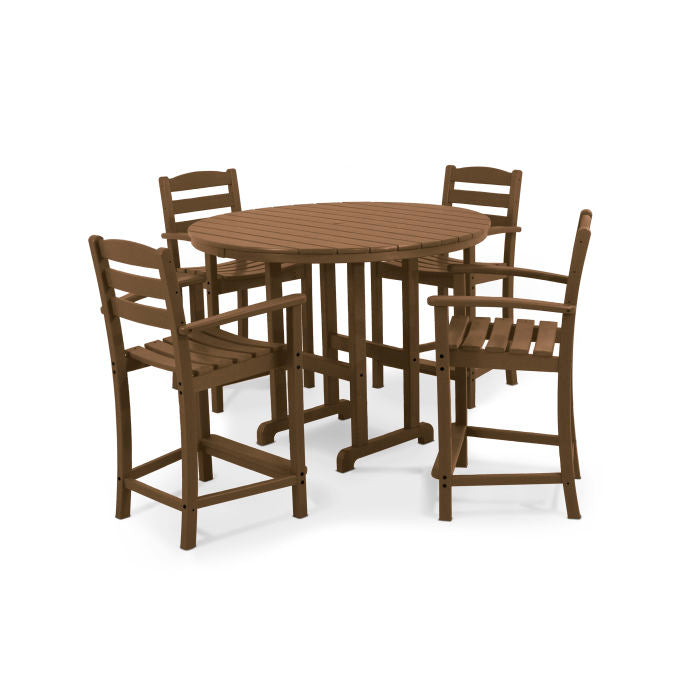 Polywood La Casa Cafe 5-Piece Counter Set