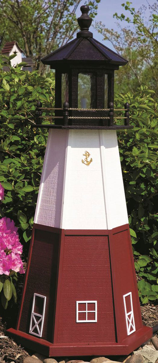 Twin Oaks 8' Lighthouse - Vermilion