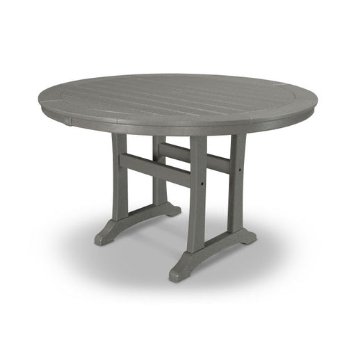 "Polywood Nautical Trestle 48"" Round Dining Table"