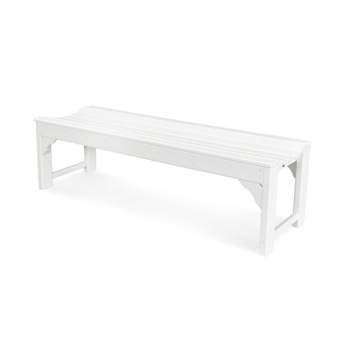 "Polywood Traditional Garden 60"" Backless Bench"