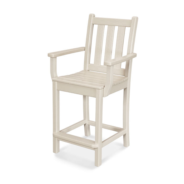Polywood Traditional Garden Counter Arm Chair