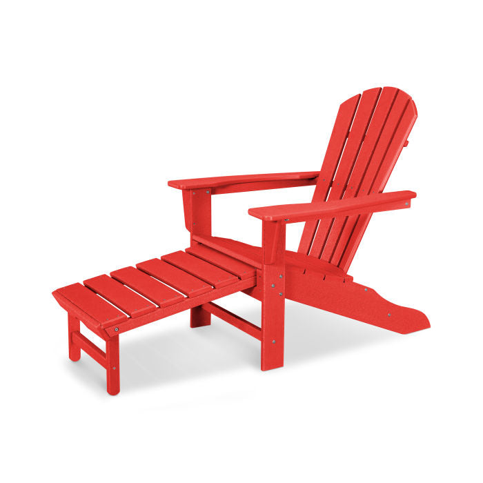 Polywood Palm Coast Ultimate Adirondack Chair w/ Hideaway Ottoman