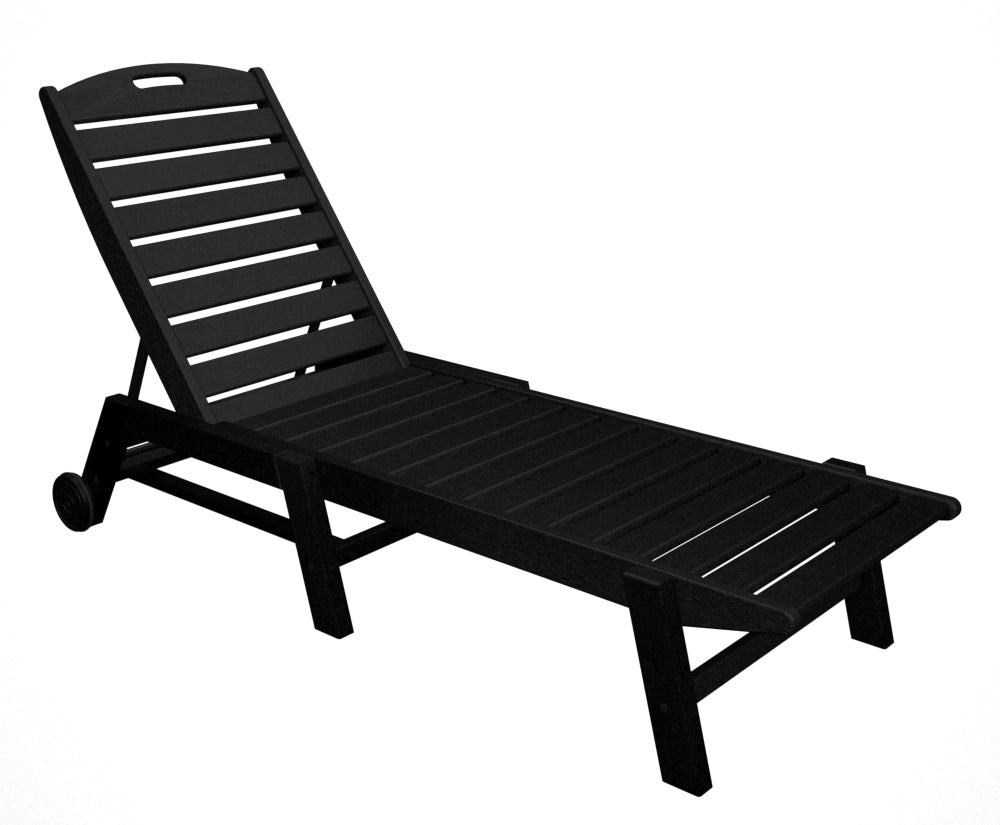 Polywood Nautical Wheeled Chaise - Stackable