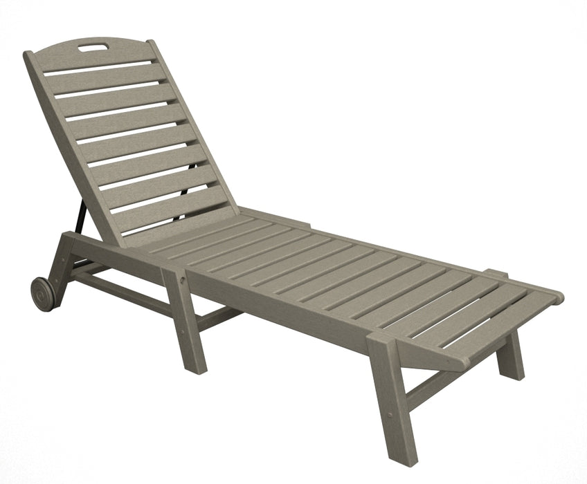 Polywood Nautical Chaise w/ Wheels - Stackable