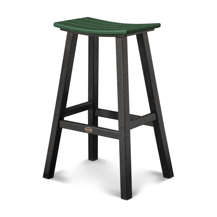 "Polywood Contempo 30"" Saddle Bar Stool"