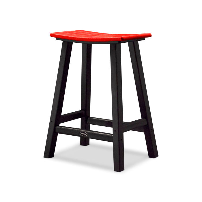 "Polywood Contempo 24"" Saddle Bar Stool"
