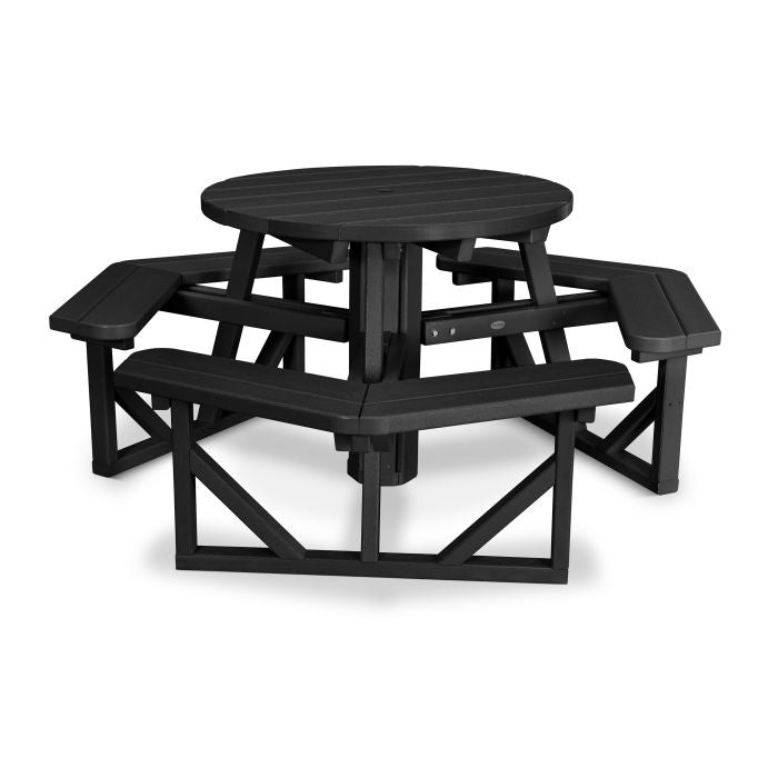 "Polywood Park 36"" Round Picnic Table"