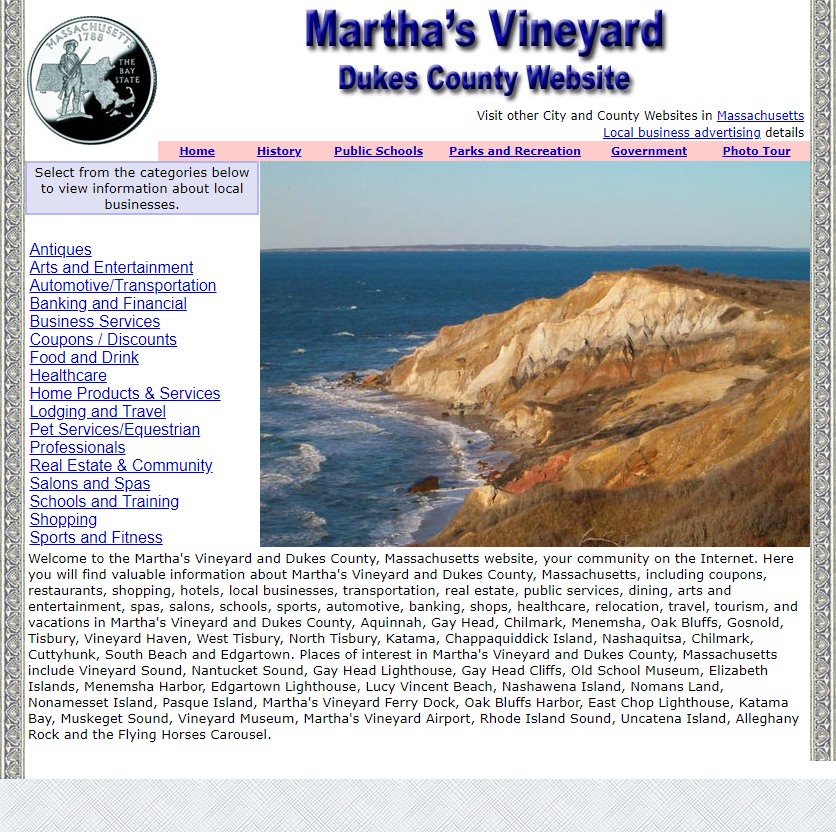 Dukes County and Martha's Vineyard Website - CountyWebsite.com