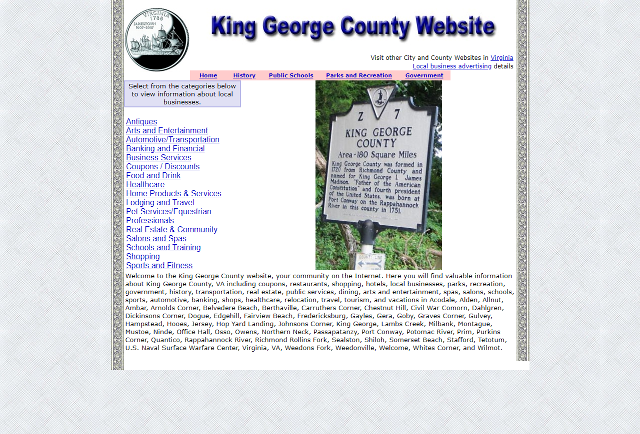 KIng George County - CountyWebsite.com