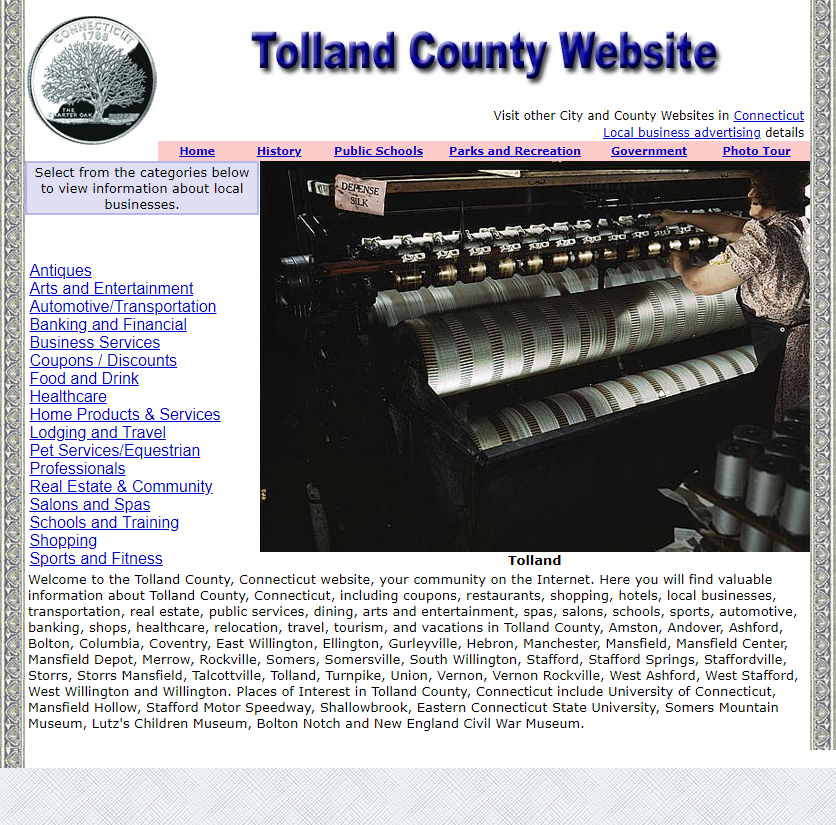 Tolland County - CountyWebsite.com