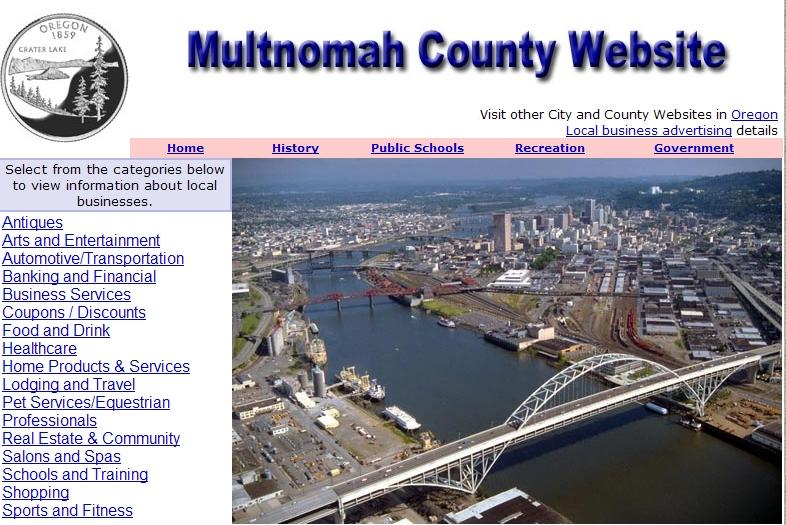 Multnomah County and Portland Website - CountyWebsite.com