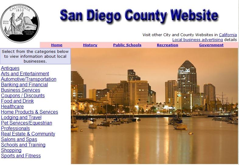 San Diego Website - CountyWebsite.com