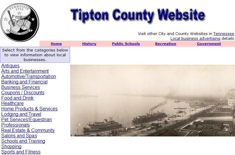 Tipton County Website - CountyWebsite.com