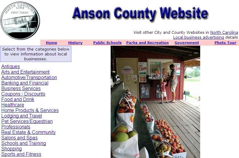 Anson County Website - CountyWebsite.com