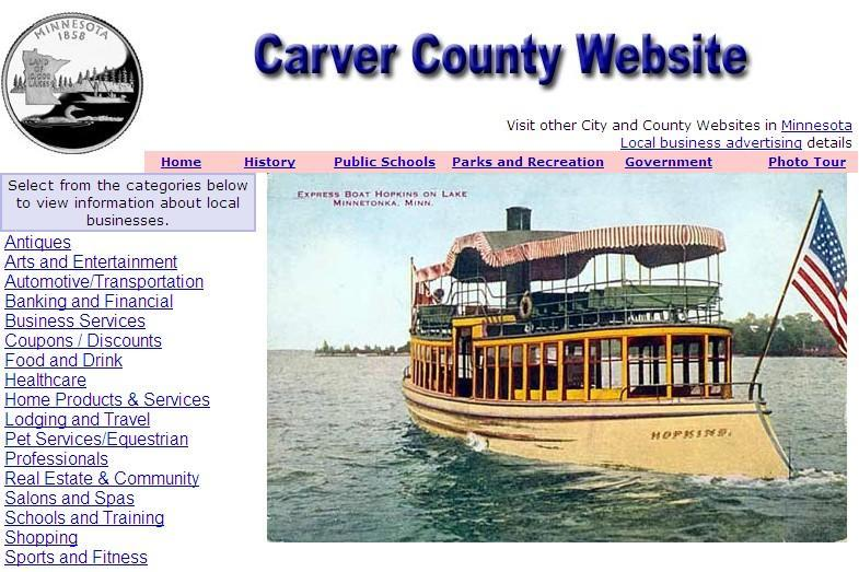 Carver County Website - CountyWebsite.com