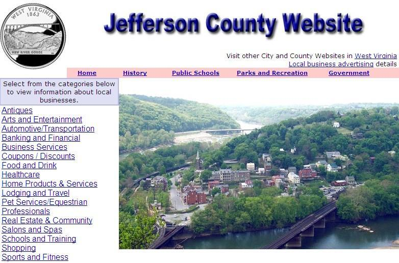 Jefferson County, West Virginia Website - CountyWebsite.com