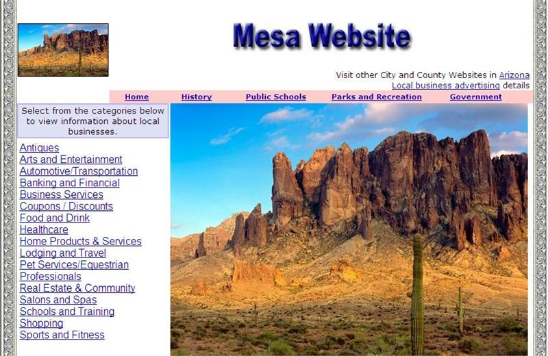 Mesa Website - CountyWebsite.com