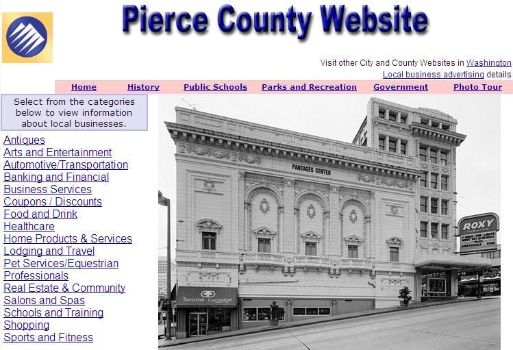 Pierce County Website - CountyWebsite.com