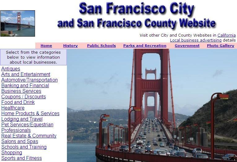 San Francisco Website - CountyWebsite.com