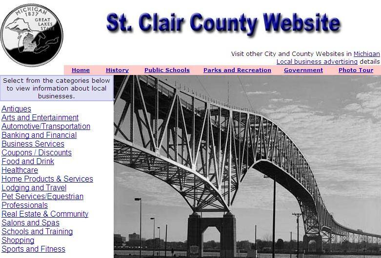 St. Clair County, Michigan Website - CountyWebsite.com