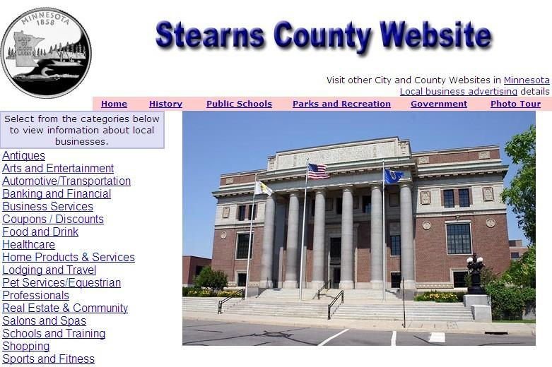 Stearns County Website - CountyWebsite.com