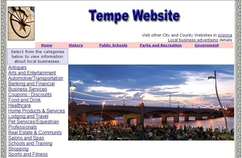 Tempe Website - CountyWebsite.com