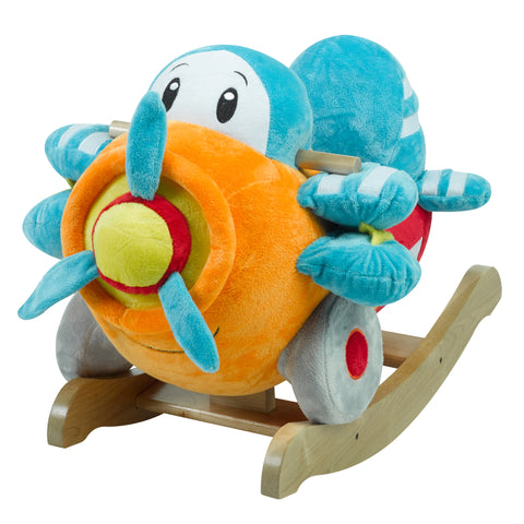 Puff the Periwinkle Dragon Rocker