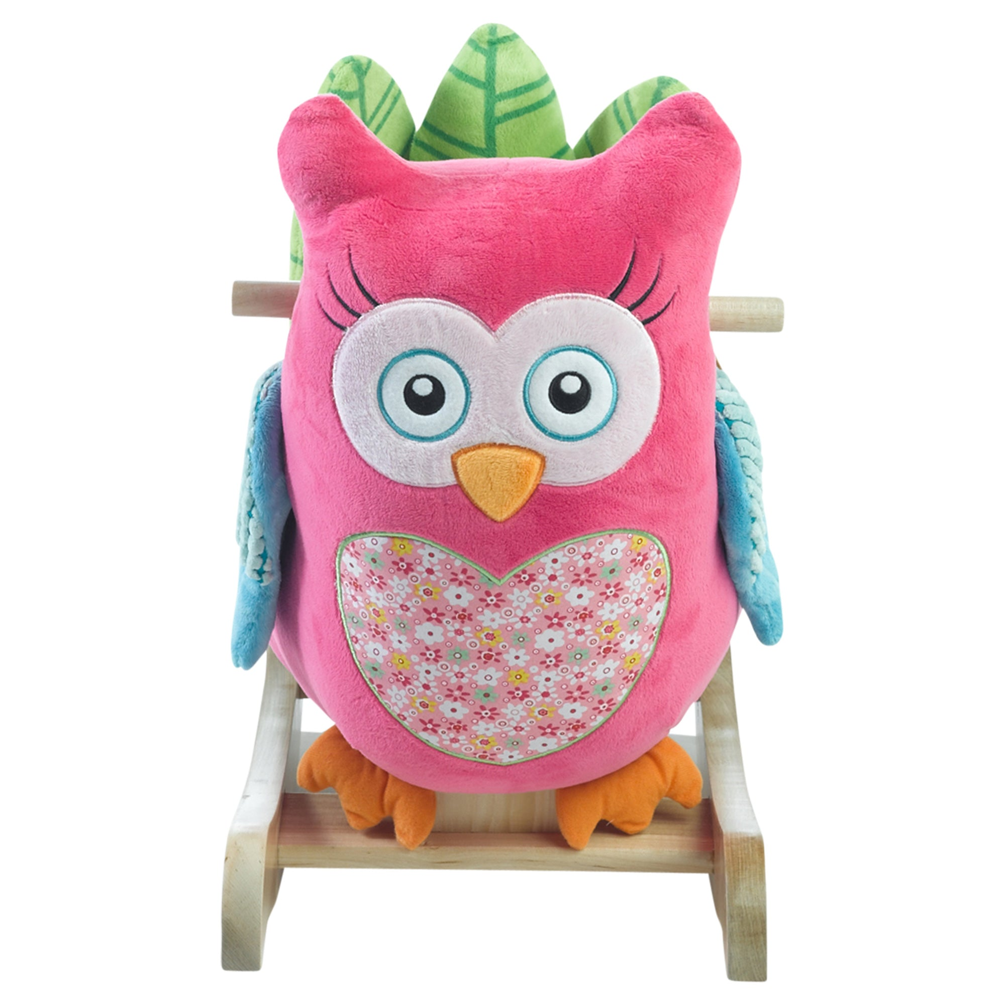Owlivia Pink Owl Chair Rocker