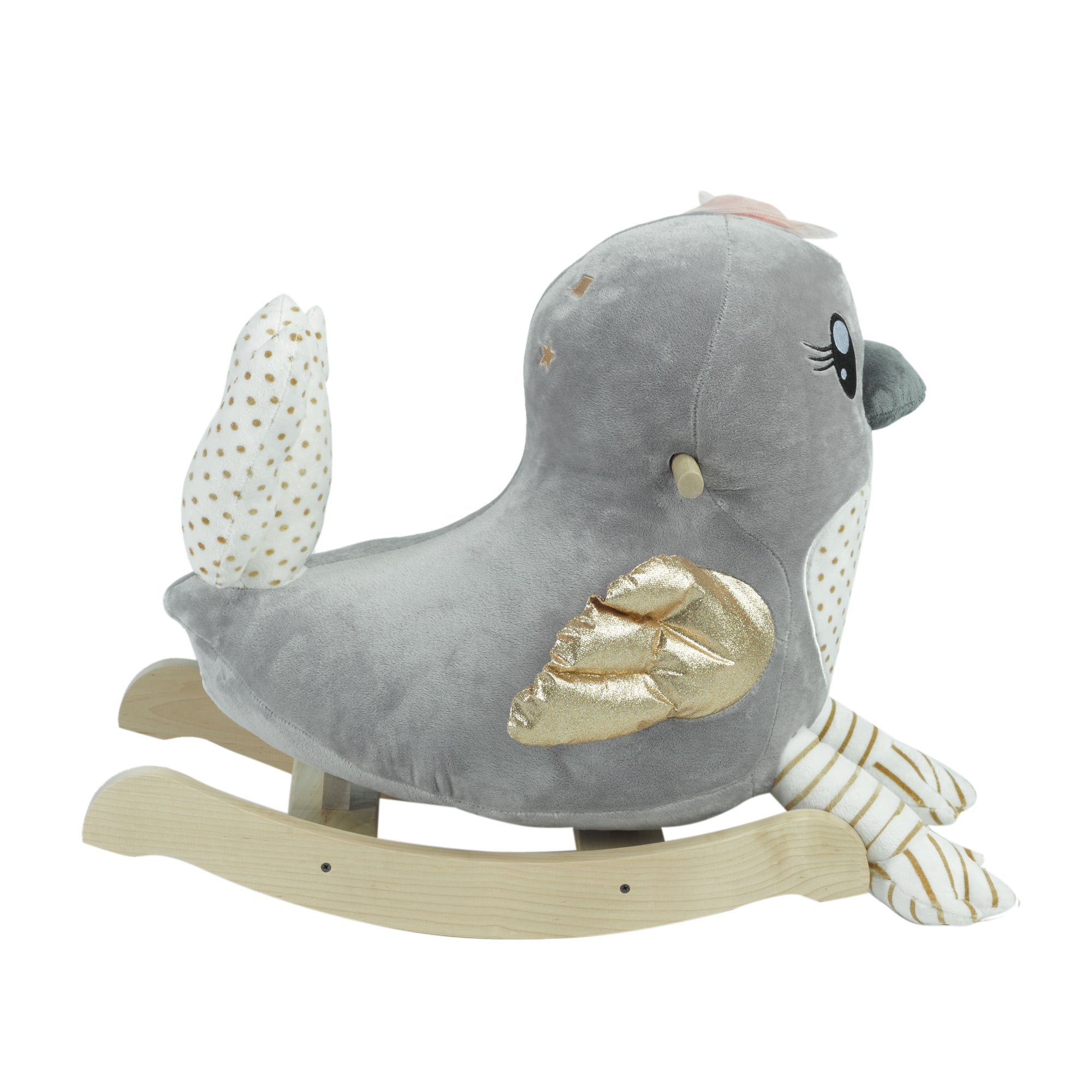Skye the Grey Bird Chair Rocker