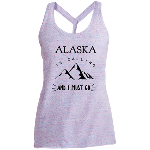 Women's Cosmic Twist Back Tank - Alaska Is Calling