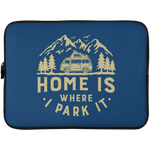 Laptop Sleeve - 15 Inch - Home Is Where I Park It - Gold Graphic
