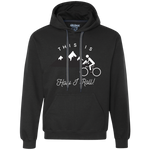 Men's Heavyweight Pullover Hoodie - This Is How I Roll - Bicycles