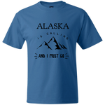 Men's Hanes Beefy T-Shirt - Alaska Is Calling And I Must Go
