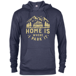Men's Lightweight Hoodie - Home Is Where I Park It - Gold Graphic