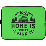 Laptop Sleeve - 15 Inch - Home Is Where I Park It  - Black Graphic