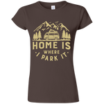 Women's Softstyle T-Shirt - Home Is Where I Park It - Gold Graphic