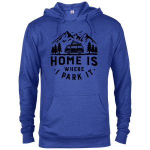 Men's Lightweight Hoodie - Home Is Where I Park It - Black Graphic