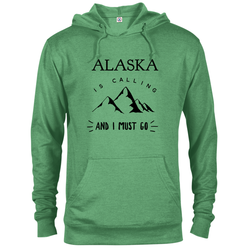 Men's Lightweight Terry Hoodie - Alaska Is Calling
