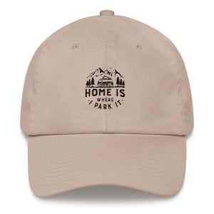 Dad Hat - Home Is Where I Park It - Black Graphic