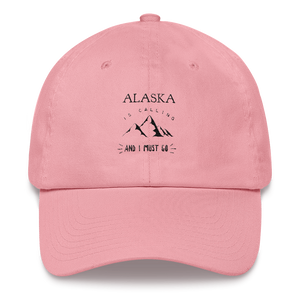 Dad Hat - Alaska Is Calling - Black Design